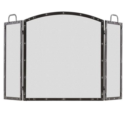 home decorators collection wazee rubbed silver 3 panel