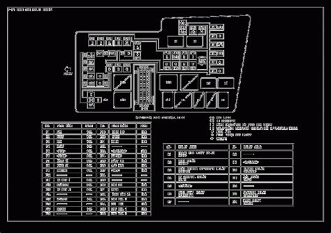 mazda 6 fuse panel cover wiring diagram with description