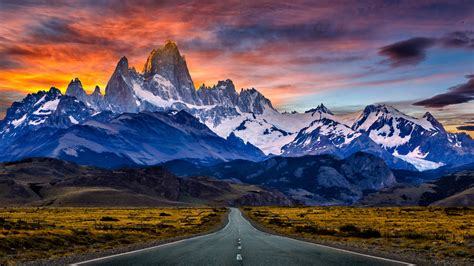 fitz roy mountain  south america patagonia  argentina  chile   nearby el