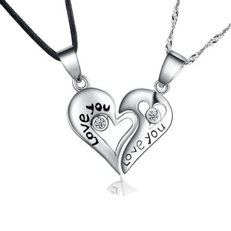 925 sterling pendant necklaces with pair