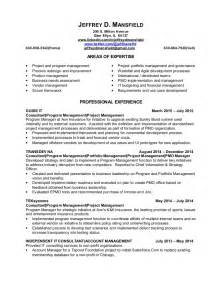 Portfolio Analyst Sle Resume by Pmo And It Portfolio Manager Resume Jeffrey Mansfield 26 Oct2015