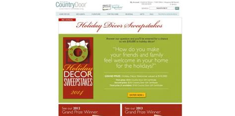 Country Sweepstakes 2014 - country door holiday d 233 cor sweepstakes