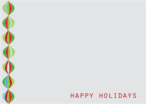 happy holidays card template happy holidays greeting card with side decoration graphic