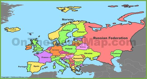 europe map maps  europe
