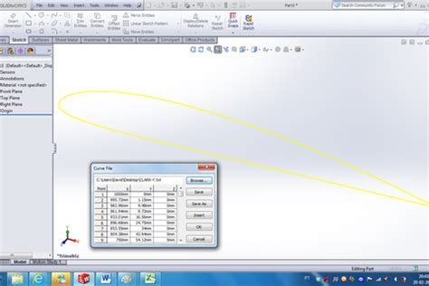 solidworks tutorial won t open how to model an aerofoil using coordinates in solidworks