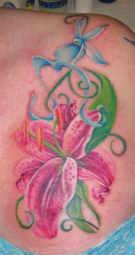 orchid tattoo edmonton review ghost orchid and stargazer lily tattoo by char hall yelp