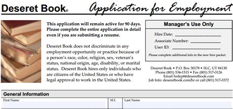 deseret book pictures of deseret book application printable employment forms