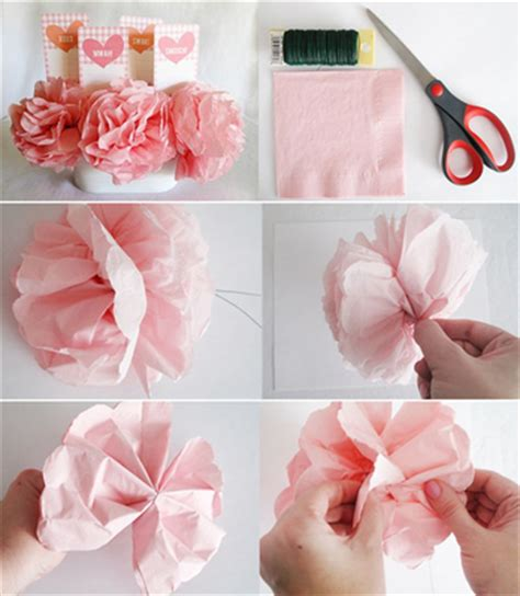 How To Make Flowers Out Of Paper Napkins - napkin flowers 183 craft finds 183 cut out keep craft