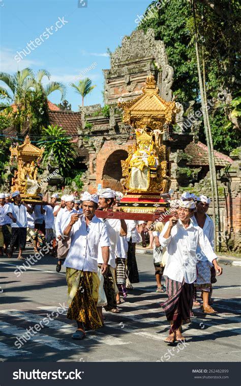 new year in ubud ubud bali march 16 balinese villagers stock photo