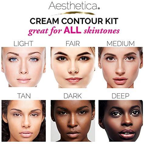 best contour for light skin aesthetica cosmetics cream contour and highlighting makeup