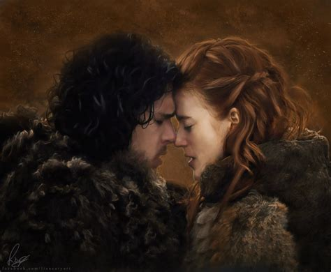 drawing game of thrones arya sansa catelyn ygritte jon and ygritte by liancary art on deviantart