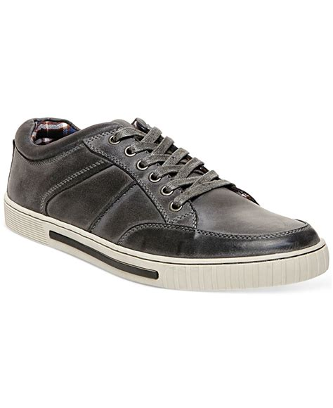 steve madden pipeur sneakers in gray for lyst