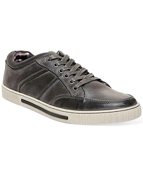 steve madden sneakers lyst steve madden pipeur sneakers in gray for
