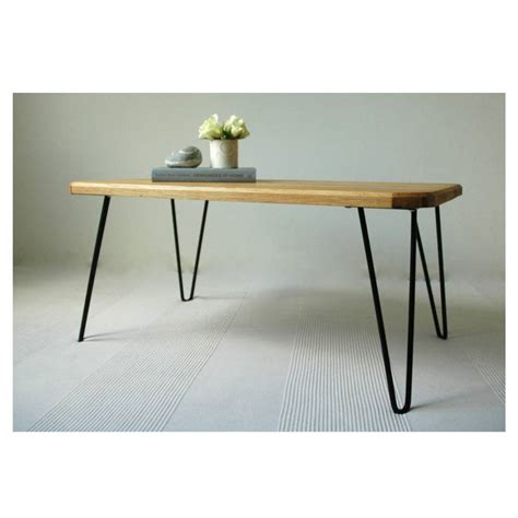 hairpin leg coffee table ruby coffee table with hairpin legs by renn uk