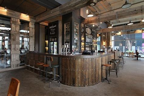 design a bar bringing industrial feel to a modern manchester bar