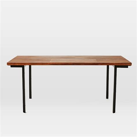 industrial dining table west elm