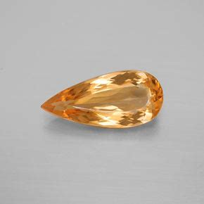 Imperial Chagne Topaz 15 80ct 3 8 carat pear 15 6x7 1mm 0 and untreatedorange