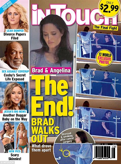 Exclusive Brangelina Threat Lifestyle Magazine by And Brad Pitt Appear To Engage In A Heated
