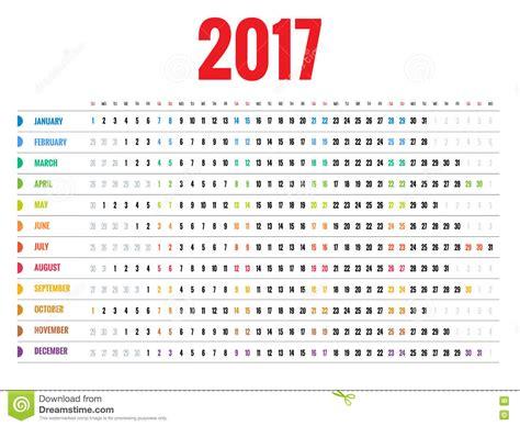 Calendã Em Semanas Calendario Por Semanas 2017 Calendar 2017 Printable