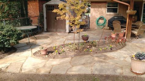 Patio Flagstone Cost by How Much Does It Cost To Install A Patio Angies List
