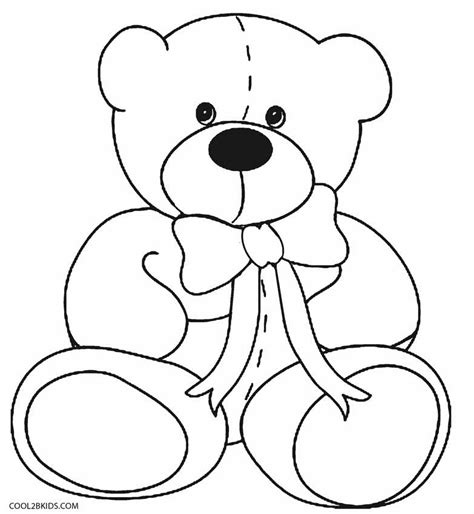 coloring pages printable teddy bear printable teddy bear coloring pages for kids cool2bkids