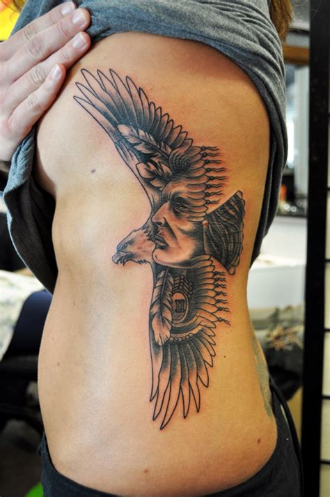 tattoo eagle indian eagle on the ribs by steve fawley living arts tattoo
