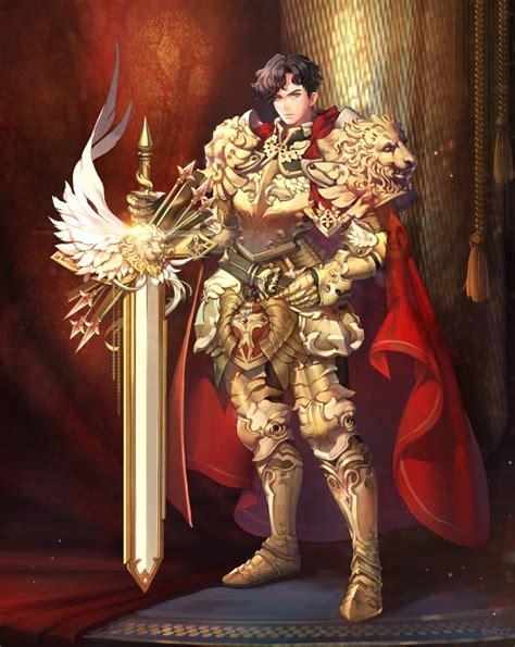 wallpaper knight armor sword anime boy cape