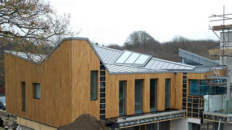 Toit En Zinc Noir 2533 by Modern New Build Design With Large Zinc Roof In Hadlow