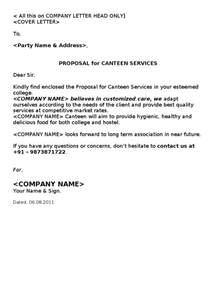 Canteen Manager Cover Letter by Canteen Cafeteria Kitchen