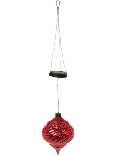solar power hanging christmas balls large outdoor ornaments hanging solar ornament