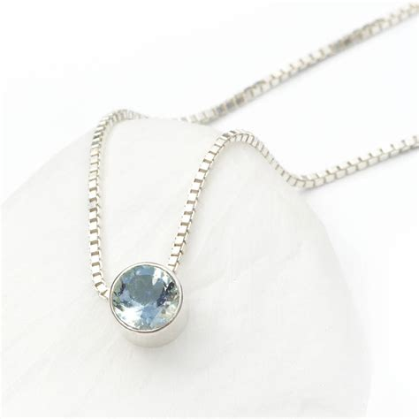 aquamarine necklace march birthstone by lilia nash jewellery   notonthehighstreet.com