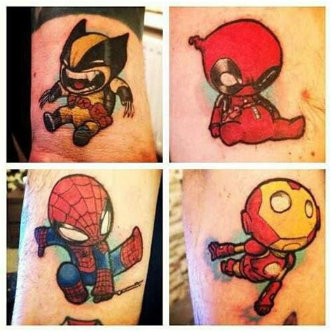 small superhero tattoos baby tattoos tattoos that i