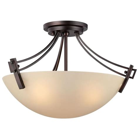 3 Light Flush Mount Ceiling Fixture Lighting Wright 3 Light Espresso Ceiling Semi Flush Mount Light Fixture 190113704 The