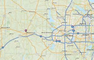 weatherford tx map