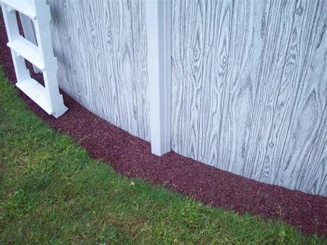 rubber mulch    ground pool