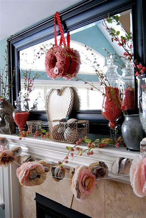 valentines day decor ideas 65 valentine s day mantel d 233 cor ideas digsdigs