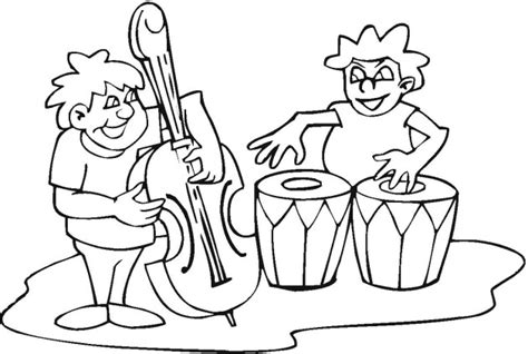 musical bands colouring pages