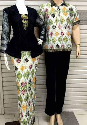 Kebaya Muslim Modern Kebaya Pasangan kebaya muslim motif batik untuk pasangan model baju muslim kebaya modern 2018