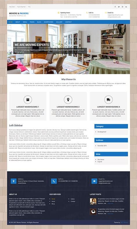 81 Best Responsive Free Wordpress Themes With Slider Download Template Packers And Movers Html Templates