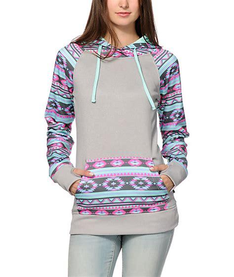 tribal pattern pullover hoodie empyre frosty tribal tech fleece hoodie zumiez