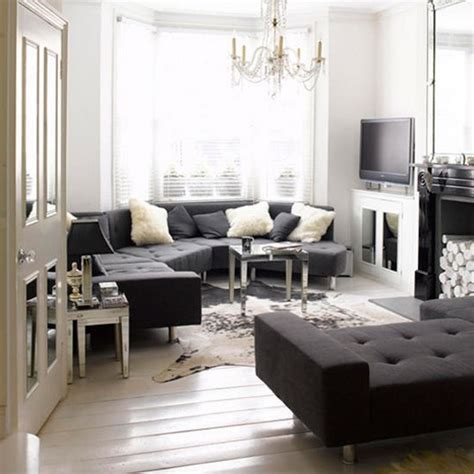 elegant monochrome living room black and white living