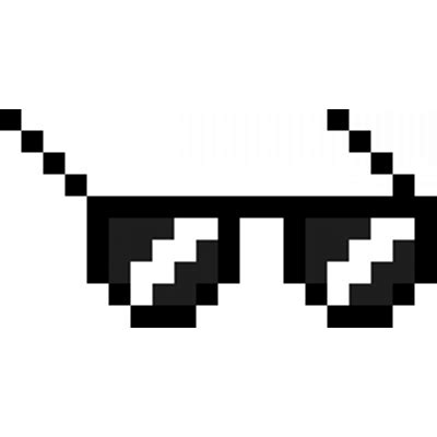 Pixel Sunglasses Meme - thug life dark glasses transparent png stickpng