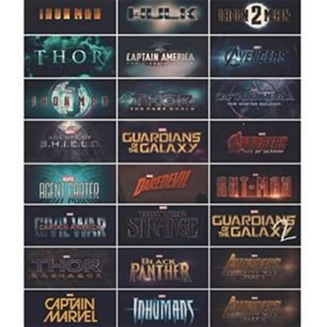 all marvel in order to all in the correct order and thanks for the great
