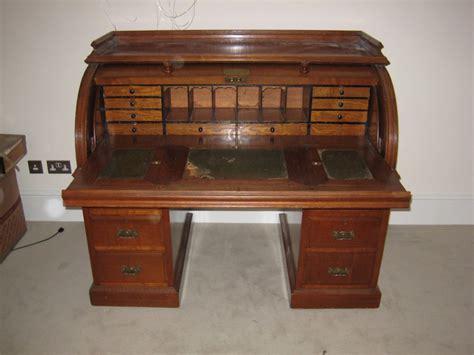 golden oak cylinder roll top desk dorking desks