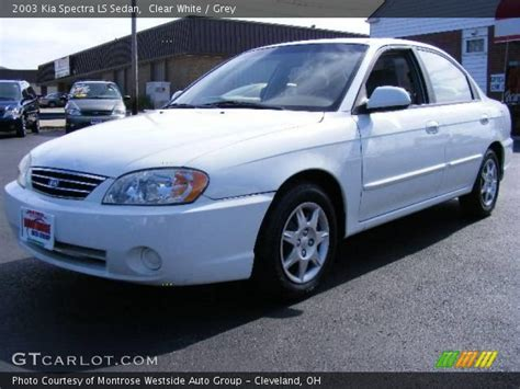 2003 Kia Spectra Clear White 2003 Kia Spectra Ls Sedan Grey Interior