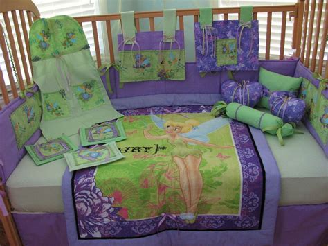Tinkerbell Crib Bedding Tinkerbell Pixie Hollow Green Purple 12 Baby