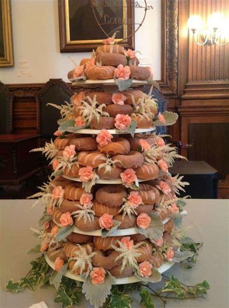 Donut Wedding Cake by Beautiful Donut Wedding Cake October Wedding At