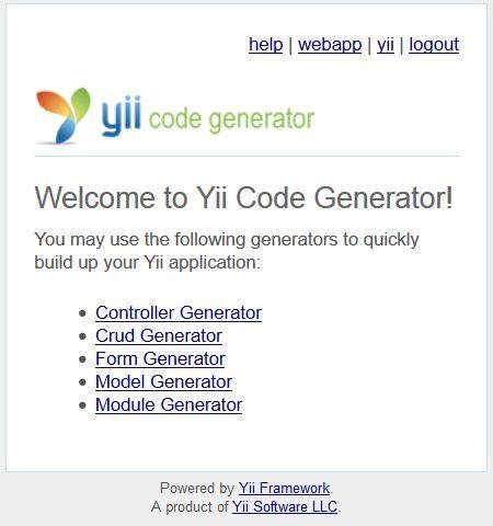 membuat form login dengan yii framework membuat crud di yii framework dengan gii