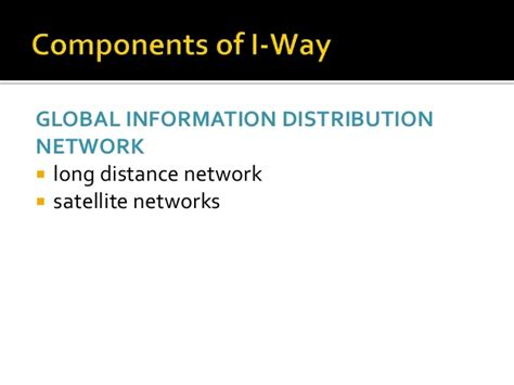 Mba In Networking Infrastructure Management by I Way Network Infrastructure For E Commerce