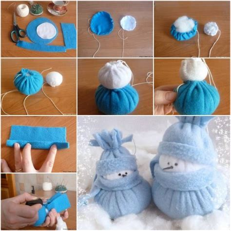 making christmas decorations at home how to make felt snowman christmas holiday home decor step